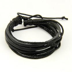 Nahkainen rannekoru, Black Multilayer Bracelet
