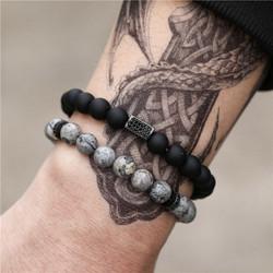 Luonnonkiviset rannekorut, Two Natural Stone Bracelets