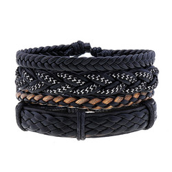 Rannekorusetti, Set of Four Black Bracelets