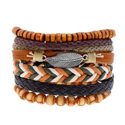 Rannekorusetti, Set of Four Brown Bracelets