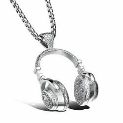 Kirurginteräsriipus, XL Streetstyle Headphone Necklace