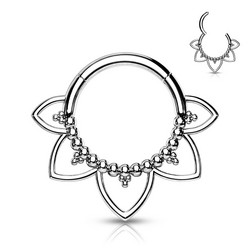 Lävistysrengas, All 316L Surgical Steel Filigree Hoop Ring
