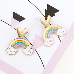 Korvakorut, Pastel Rainbow Earrings -pastelli sateenkaaret