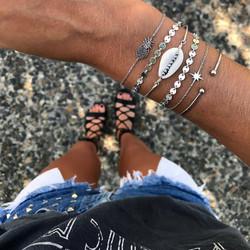 Rannekorusetti, FRENCH RIVIERA|Silver Beach Boho Bracelets