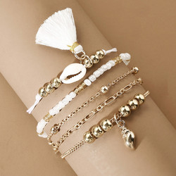 Rannekorusetti, FRENCH RIVIERA|Delicate Gold & White Bracelets