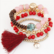 Rannekorusetti, Bohemian Red Bracelets -punasävyiset rannekorut