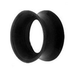 Tunneli 10mm, Thin Silicone in Black