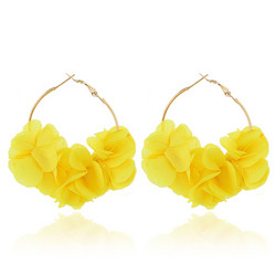 Korvakorut, FRENCH RIVIERA|Large Flower Hoops in Yellow