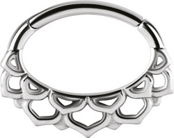 Lävistysrengas, Lotus Flower Hinged Septum and Daith Clicker