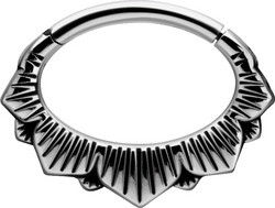 Lävistysrengas, Boho Style Hinged Septum and Daith Clicker