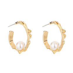 Korvarenkaat, FRENCH RIVIERA  Classic Chunky Pearl Hoops