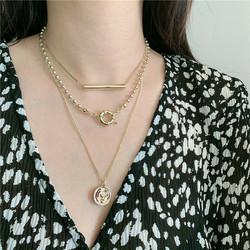 Kerroskaulakoru, FRENCH RIVIERA|Stylish Light Gold Layer Necklace