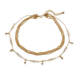 Kerroskaulakoru, FRENCH RIVIERA|Chokerstyle Necklace in Gold