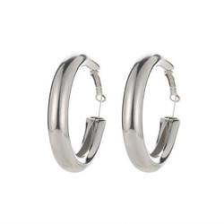 Korvakorut, FRENCH RIVIERA|Wide Silver Hoops -hopeanväriset renkaat