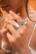 Sormus, BOHM PARIS Bague Léa dorée avec mint crystal