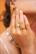 Sormus, BOHM PARIS|Bague Léa dorée avec clair crystal
