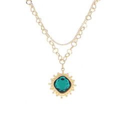 Kaulakoru, BOHM PARIS|Collier Charlotte avec cristal emerald
