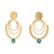 Korvakorut, BOHM PARIS|Boucles Melina avec cristal royal green