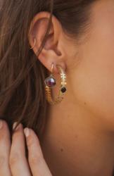Korvakorut, BOHM PARIS|Boucles D'oreilles Léa avec cristal coral