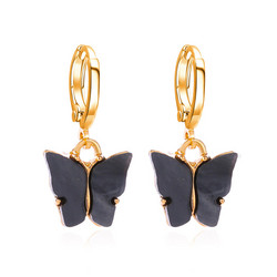 Korvakorut, PAPARAZZI|Butterfly Hoops in Dark Grey -perhosrenkaat