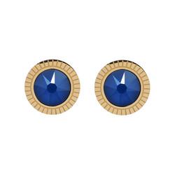Korvakorut, BOHM PARIS Boucles D'oreilles Miel avec cristal Royal Blue