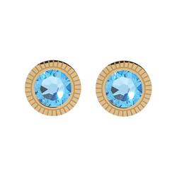 Korvakorut, BOHM PARIS|Boucles D'oreilles Miel avec cristal turqoise