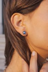 Korvakorut, BOHM PARIS|Boucles D'oreilles Miel avec cristal pink