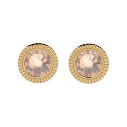 Korvakorut, BOHM PARIS|Boucles D'oreilles Miel avec cristal dorée