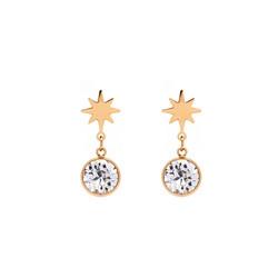 Korvakorut, BOHM PARIS|Boucles Étoile avec cristal clair