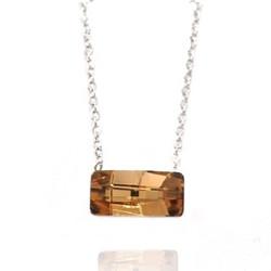 Kaulakoru, BOHM PARIS|Collier Nora avec cristal beige