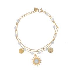 Rannekoru, BOHM PARIS|Bracelet Siloé avec agate blanche