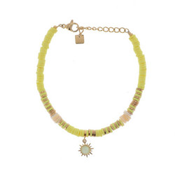Rannekoru, BOHM PARIS|Bracelet Surf avec cristal jaune