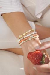 Rannekoru, BOHM PARIS|Bracelet Surf avec cristal coral