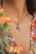 Maskotti/riipus, BOHM PARIS|Lockie Charm Cassy nuances bleues