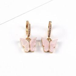 Korvakorut, PAPARAZZI|Butterfly Glitter Huggie Hoops in Pink