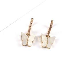 Korvakorut, PAPARAZZI|Butterfly Glitter Huggie Hoops in White