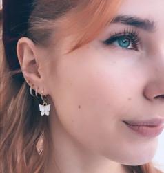 Korvakorut, PAPARAZZI|Butterfly Glitter Huggie Hoops in Turqoise