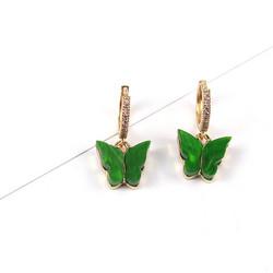 Korvakorut, PAPARAZZI|Butterfly Glitter Huggie Hoops in Green