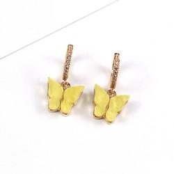 Korvakorut, PAPARAZZI|Butterfly Glitter Huggie Hoops in Yellow