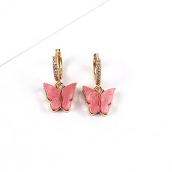 Korvakorut, PAPARAZZI|Butterfly Glitter Huggie Hoops in Salmon Rose