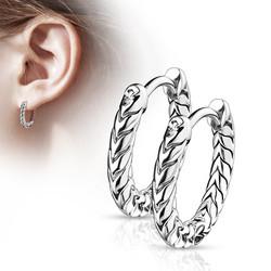 Korvarenkaat, Antique Silver Hoop Rings