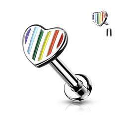 Rustokoru/traguskoru, Rainbow Striped Heart
