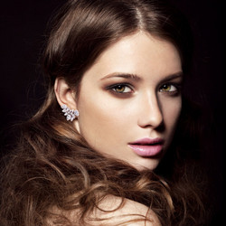 Kristallikorvakorut, ATHENA BRIDAL|Glamour Cluster Earrings