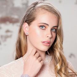 Kristallikorvakorut, ATHENA BRIDAL|Princess Crystal Earrings