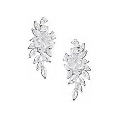 Kristallikorvakorut, ATHENA BRIDAL|Luxurious Flower Earrings