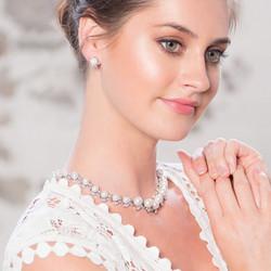 Kristallikorvakorut, ATHENA BRIDAL|Romantic Sophie Earrings with Pearl