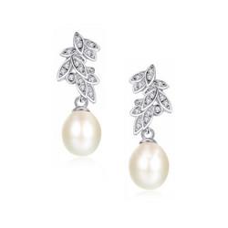 Kristallikorvakorut, ATHENA BRIDAL|Graceful Natural Pearl Earrings