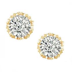 Kristallikorvakorut, ATHENA BRIDAL|Princess Crystal Earrings in Gold
