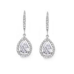 Kristallikorvakorut, ATHENA BRIDAL|Classic Teardrop Earrings