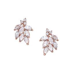 Kristallikorvakorut, ATHENA BRIDAL|Dainty Bella Earrings in Rosegold